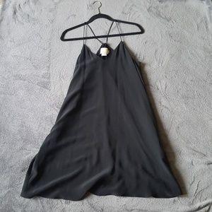 Cynthia Rowley  black silk slip dress, size S